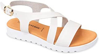 Valleverde Sandalo Donna Pelle 24101 Nero o Cuoio o Nero. Una Calzatura Comoda Adatta per Tutte Le Occasioni. Primavera Es...