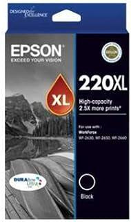 EPSON 220XL High Capacity DURABrite Ultra Black Ink(Epson Workforce WF-2630, WF-2650, WF-2660)