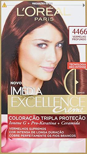 Coloração Imédia Excellence, L'Oréal Paris, 4466 Vermelho Profundo