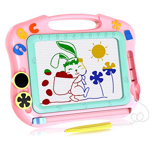 LOFEE Magna Doodle Girls Toys Age 2 3 4, Magnetic Doodle Board for Girls Birthday Present for 2-4 Year Old Girls 2 3 4 Year Old Toddlers Gifts Pink