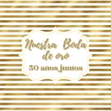 Libro de firmas boda de oro: para los recuerdos invitados aniversario boda de oro, 50 años casados, Regalo o detalle aniversario pareja. Español