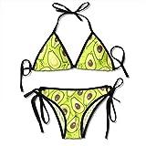 Avocado Vegan Funny Swimsuits Bikinis Thong Set Maillot de Bain pour la Plage Beach Swimming