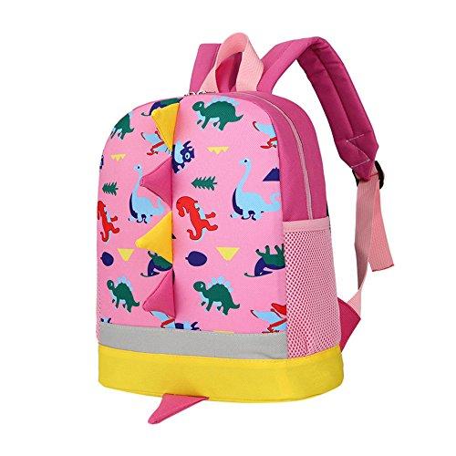 Btruely Schultasche Kind Rucksack Junge Mädchen Elegant handtaschen Mode Grundschule Student Im Freien Reise Backpack Anti Diebstahl Taschen Kinder Dinosaurier Rückenflosse Muster Tasche