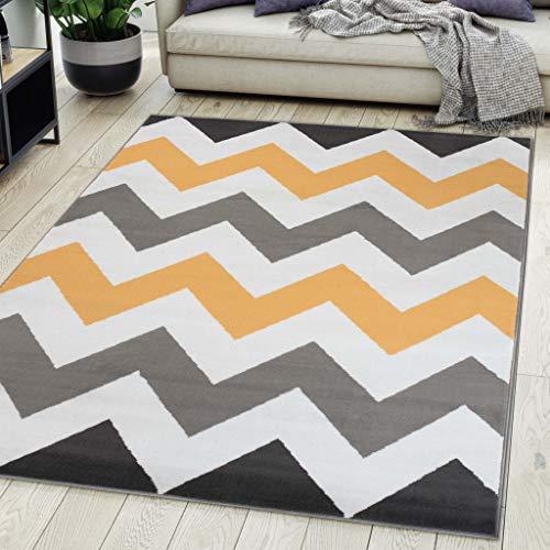 Carpeto Rugs Alfombra De Salón Moderna De Pelo Corto Diseño Gris 200