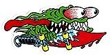 Santa Cruz Slasher Skateboard Sticker - 16 x 7.5cm Skate Boarding sk8 New