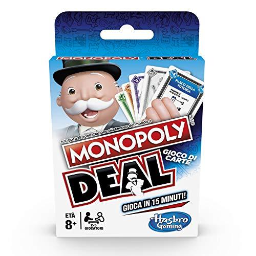 Hasbro Monopoly - Deal Kartenspiel, italienische Version, Mehrfarbig, E3113103