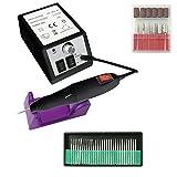 mctech trivello elettrico del manicure pedicure rimozione del callo completo per il salone designes (b, nero)