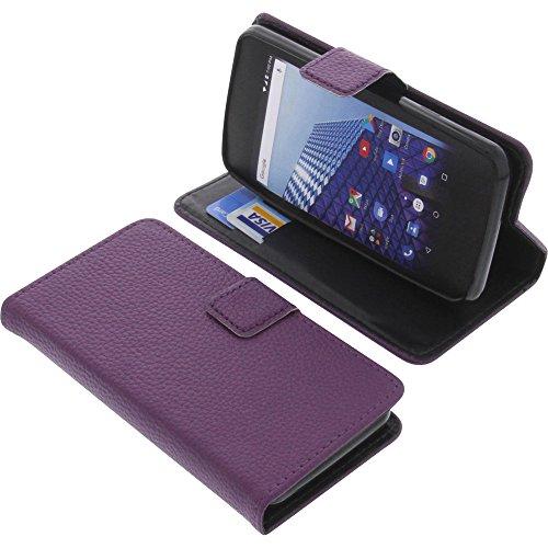 foto-kontor Tasche für Archos Access 45 4G Book Style lila Schutz Hülle Buch