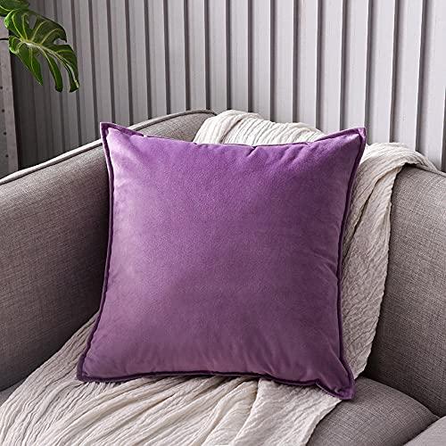 Almohada,Diseño ergonómico para un Mejor Soporte para Dormir en la Cabeza, el Cuello y los Hombros Almohada -Violeta_50x50cm