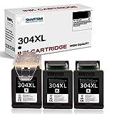 SMARTOMI Cartuchos de Tinta 304 XL remanufacturado compatibles con impresoras HP 304 304 XL HP DeskJet 3760 2632 2630 3762 3750 3764 2620 3720 2633 3733 Envy 5010 5030 5020 5032 HP AMP 130 Negros