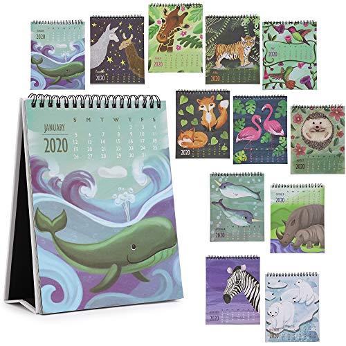 Paper Junkie Animal Desktop Flip Calendar for 2020