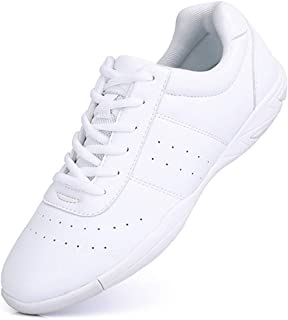 Cheer Shoes for Girls White Cheerleading Athletic Dance Shoes Flats Tennis Walking..