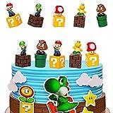 SUNSK Decoración De Pastel De Super Mario Cake Topper Mario Decoración de pastel de cumpleaños de dibujos animados para Cumpleaños Decoración de La Torta del fiesta suministros 5 Piezas