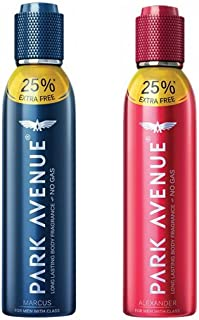 Park Avenue 1 Marcus and 1 Alexander Perfumed Deodorant Combo Pack for Men (Pack of 2)