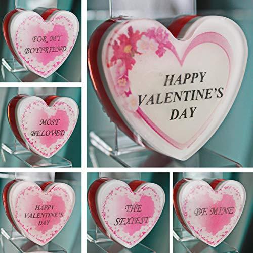 Happy Valentines Day. Handmade Valentines Gifts. Custom Monogram Soap