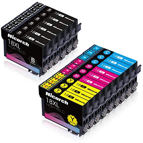Hicorch 18XL Druckerpatronen Ersatz für Epson 18 XL Kompatible mit Epson Expression Home XP-202 XP-205 XP-215 XP-225 XP-305 XP-312 XP-322 XP-325 XP-402 XP-405 XP-412 XP-415 XP-425,15-Pack