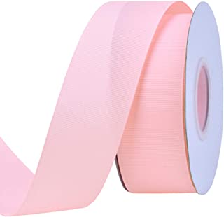 Ribest 1-1/2 inch 25 Yards Solid Grosgrain Ribbon Per Roll for DIY Hair Accessories Scrapbooking Gift Packaging Party Decoration Wedding Flowers Light Pink