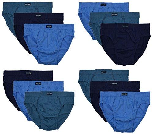 12 Herren Sport - Slips in klassischen Farbkombinationen mit & ohne Eingriff 100% Baumwolle 12er Spar Pack Slip Herrenslip Jungen Man M L XL 2XL 3XL 4XL,SET B,10/4XL