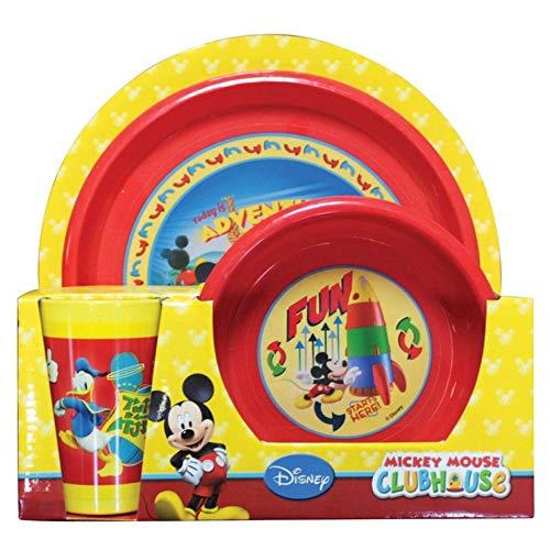 Mickey Mouse 000560477 set bord schaal beker mok Mickey bont