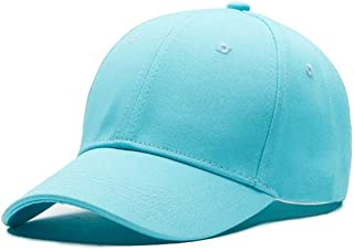 YOKST Unisex Solid Color Foldable Baseball Hats Outdoor Adjustable Sports Cap Breathable Quick Dry Washed Trucker Hat Retro Ponytail Caps Sun Hat For Travel (Color : Light blue)