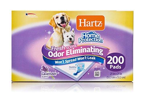 Hartz Home Protection Lavender Scent Odor Eliminating Gel Dog Pads, 21