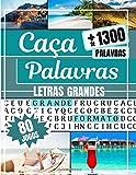 Caça Palavras: Portuguese Puzzle Game – Letras Grandes   Livro com 80 Jogos  & + de 1300 palavras   Grande Formato 21 x 29,7 cm   Passatempo - Presente para Tempos livres, Ferias e Viagens