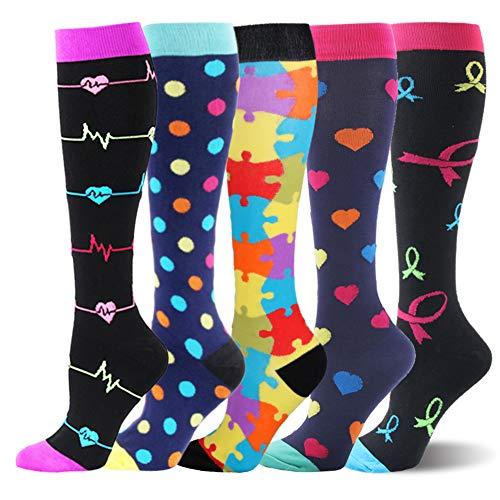 Kompressionsstrümpfe für Damen und Herren Stützstrümpfe Thrombosestrümpfe Medizinisch für Schwangerschaft Sport Flug Anti-Thrombose Socken