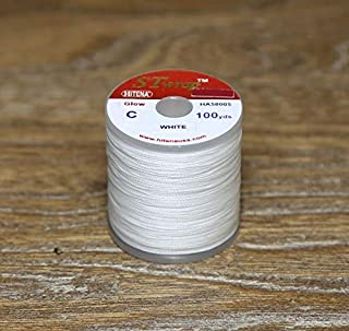 Hitena Rod Wrapping Thread - Glow Winding Thread (Size C, 100yd). Glows in The Dark. Works Great When Wrapped at Rod Tip for Night Fishing