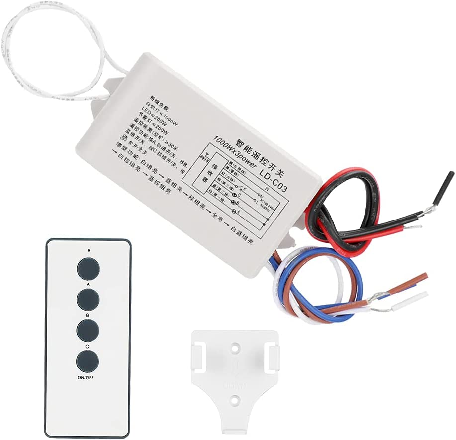 Archuu Bombing free shipping 3-Way Smart Remote Control Recei Excellent Transmitter Switch with