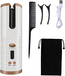 Automatic Hair Curler Ceramic Iron Waver Wireless Auto Rotating Curling Wand USB Cordless Curly Waves Machine LED Display...