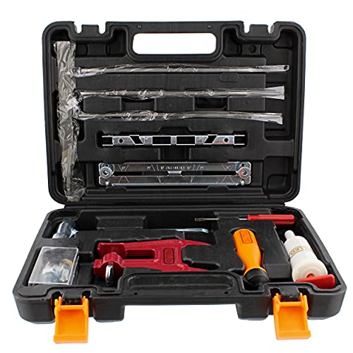 Felled Chainsaw Sharpening Kit in Hard Carrying Case - File Set, Guide, Depth Gauge, Stump Filing Vise, Grease Gun