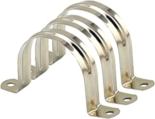 40mm 304 Stainless Steel Pipe Clip Pipe Strap Clamp metal pipe straps Saddle Clip Pipe Strap Clips Fastener two hole Tube Strap Tension Clips16pcs