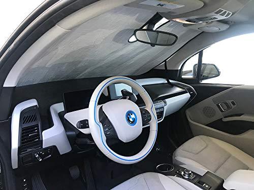 HeatShield, The Original Windshield Sun Shade, Custom-Fit for BMW i3 Hatchback (5D) w/o Sensor 2014, 2015, 2016, 2017, 2018, 2019, 2020, Silver Series