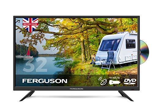 Ferguson F32F 32 inch 12 Volt Traveller Satellite LED/DVD TV 2020 Model Made in the UK