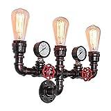Editon Tubo Vintage lámpara de pared Iluminación industriales Retro bombilla perfecto para Edison–Bombilla con interruptor (Negro), Nochx-stil-4, E27, 40.00W, 220.00V