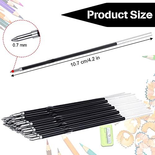 Sepamoon Retractable Pen Refills 0.7mm Ballpoint Pen Refills Replacement Gel Ink Refills Blue and Black Ink Refills for Retractable Pens, Office School Supplies (60) Photo #5
