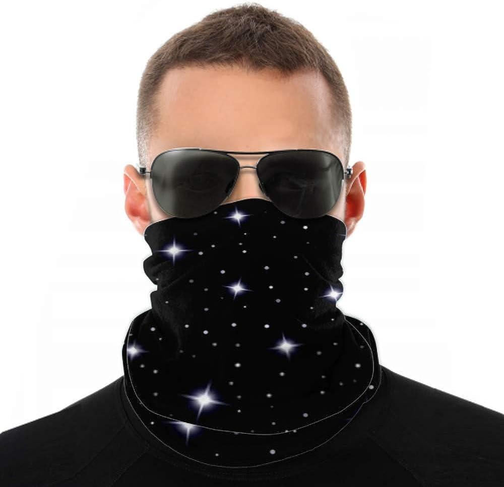 Headbands For Men Women Neck Gaiter, Face Mask, Headband, Scarf Celestial Seamless Background Sparkling Stars Glittering Turban Multi Scarf Double Sided Print Headband For Sport Outdoor