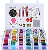 Kit de fils à broder 218 pièces avec boîte de rangement incluse 108 bracelets d'amitié colorés avec...