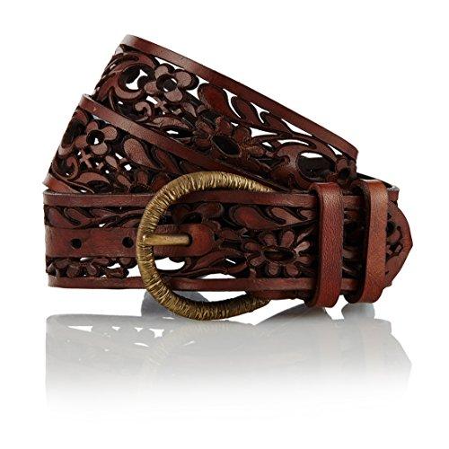 GUT INSTINKT - Handgefertigter Italienischer Artisan Ledergürtel - BEJA (Braun 95cm)