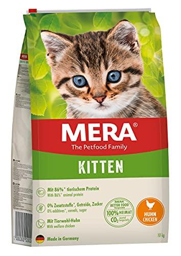 MERA Cats Kitten Huhn, Trockenfutter für heranwachsende Katzen und Kätzchen, getreidefrei & nachhaltig, Katzentrockenfutter mit hohem Fleischanteil, 10 kg