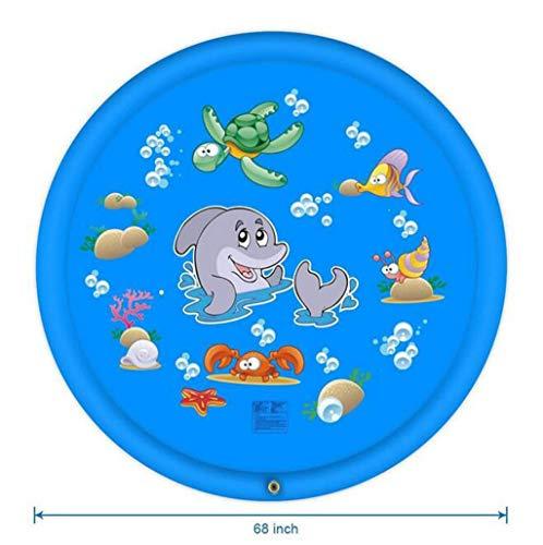 AQWWHY Juguetes de Agua 68'Big Splash Play Mat Sprinkle Pad Inflatable Water Outdoor Play Sprinkle Play Mat Diversión de Verano for bebés, niños pequeños y niños (170cm) (Color : D)
