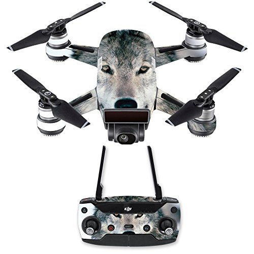 MightySkins Skin Compatible with DJI Spark Mini Drone Combo - Wolf | Protective, Durable, and Unique Vinyl Decal wrap Cover | Easy to Apply, Remove, and Change Styles | Made in The USA