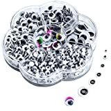 Googly Eyes for Crafts, 700Pcs Self Adhesive Jiggle Craft Eyes with Muticolors and Sizes for DIY