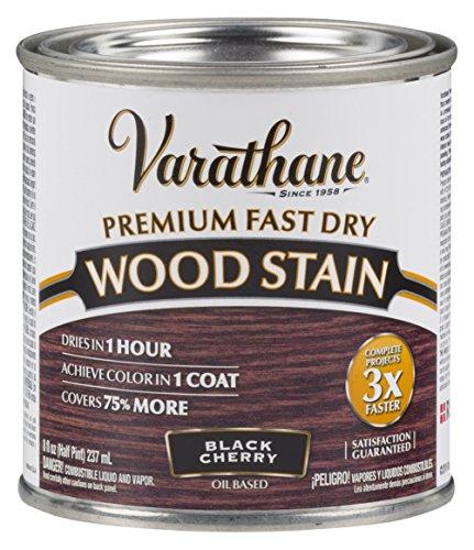 Varathane 262028 Premium Fast Dry Wood Stain, 1/2 Pint, Black Cherry