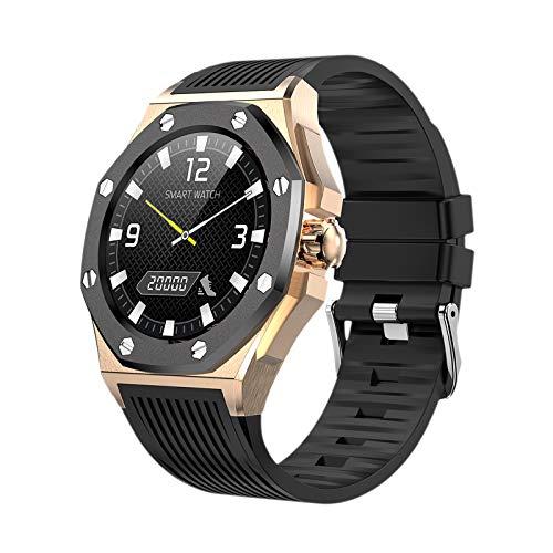 Relojes inteligentes para hombres, relojes Bluetooth con pantalla táctil de 1.3 ', IP67 a prueba de agua, rastreador de actividad con monitor de frecuencia cardíaca, reloj inteligente para teléfonos