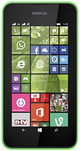 Nokia Lumia 530 Smartphone inkl. Hülle (10,2 cm (4 Zoll), Dual-SIM, 1,2GHz Snapdragon Quad-Core Prozessor, 512MB RAM, 5 Megapixel Kamera, Bluetooth, USB 2.0, Win 8) grün