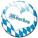 GUMA Kühlschrankmagnet Stadt München Raute mit Herz Geschenk Magnet Fan Städte Souvenir für Magnettafel stark groß Ø 50 mm