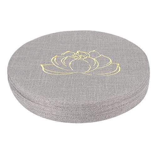 CHENQIAN Ricamo Lino Cuscino Ispessito Rotondo Paglia Yoga Mat Casa Balcone Posti Cuscino Grigio #1 40 X 40 X 6cm