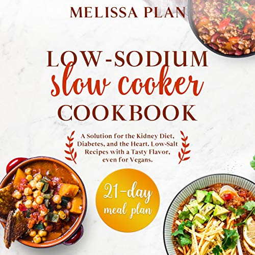 Low-Sodium Slow Cooker Cookbook cover art