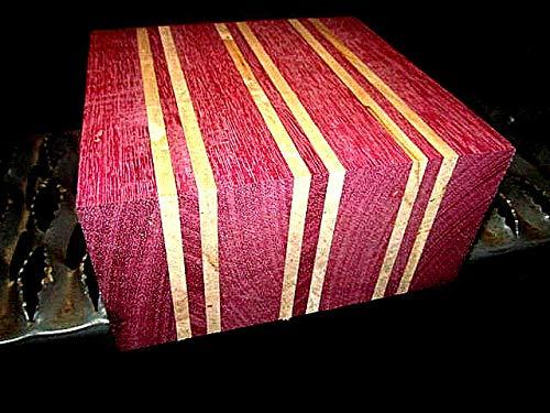 Wood) ONE Beautiful Purpleheart/Maple Laminated Bowl Blank Lumber Wood 6 X 6 X 3